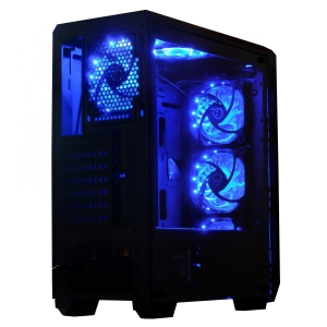 "CARCASA SPACER Middle-Tower ATX, fara sursa, H3x@, side window, 6* 120mm fan instalate, I/O panel, Black ""SP-GC-04""1"