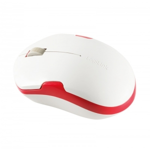 """MOUSE LOGILINK wireless, 1200dpi, 3 butoane, 1 rotita scroll, white&red """"ID0129"""" (include timbru verde 0.1 lei)2"""