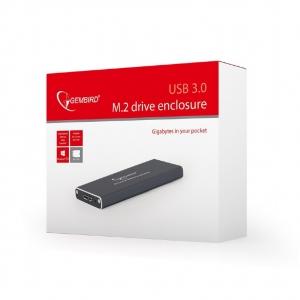 "RACK EXTERN GEMBIRD M.2 SDD to USB 3.0, Aluminiu, black,  ""EE2280-U3C-01""2"