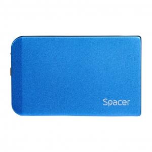 "RACK EXTERN SPACER 2.5"" HDD S-ATA to USB 3.0, Aluminiu, Albastru, ""SPR-25611A""0"