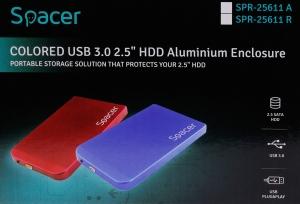 "RACK EXTERN SPACER 2.5"" HDD S-ATA to USB 3.0, Aluminiu, Albastru, ""SPR-25611A""4"