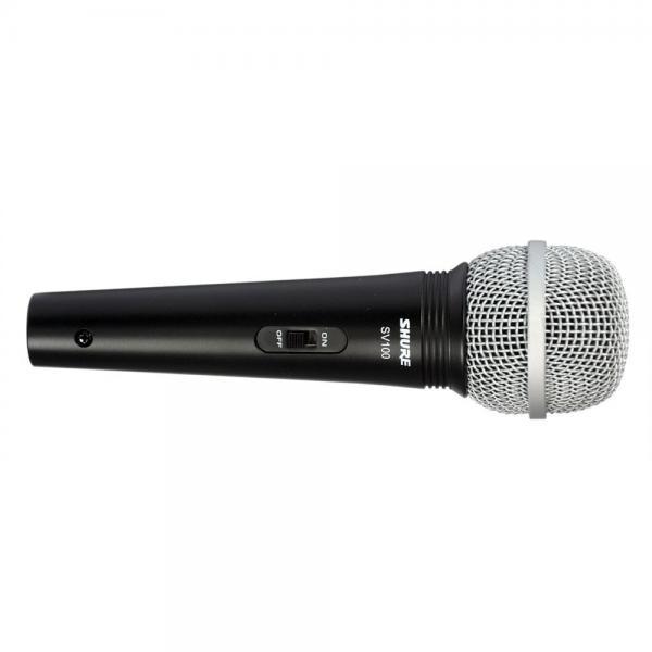 Microfon profesional cu fir Shure SV100-A, cardioid, utilizare multipla2