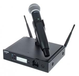Microfon profesional original Shure GLXD24R/SM58, transmitter si receiver
