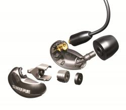 Casti profesionale in-ear Shure SE215-CL-EFS, cu super izolare fonica, transparent2