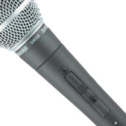 Microfon Shure SM58 original, profesional, cardioid, cu switch On/Off