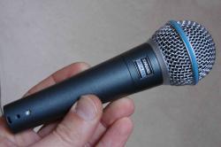 Microfon Shure Beta 58A original, profesional, supercardioid1