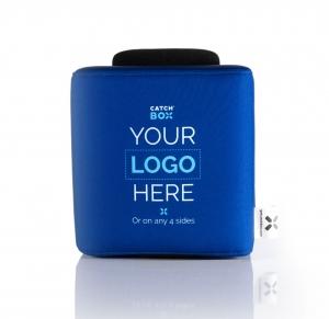 Microfon wireless CatchBox Lite, pentru conferinte de 100 persoane, culoare albastra2