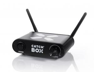 Microfon wireless CatchBox Lite, pentru conferinte de 100 persoane, culoare albastra3