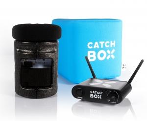Microfon wireless CatchBox Lite, pentru conferinte de 100 persoane, culoare albastra