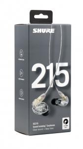 Casti profesionale in-ear Shure SE215-CL-EFS, cu super izolare fonica, transparent6