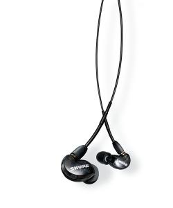 Casti profesionale in-ear Shure SE215-K-UNI-EFS, cu microfon, super izolare fonica, black