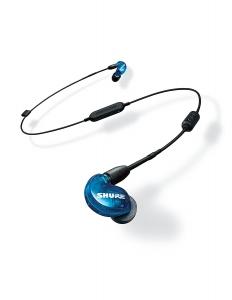 Casti profesionale in-ear Shure SE215SPE-B-BT1-EFS, Special Edition, Bluetooth, Wireless, cu super izolare fonica, albastru