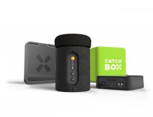 Microfon wireless CatchBox Plus, pentru conferinte de 1000 persoane, culoare verde2