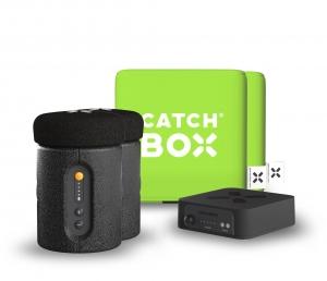 Microfon wireless CatchBox Plus, pentru conferinte de 1000 persoane, culoare verde1