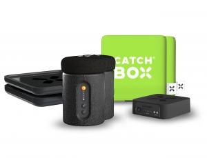 Microfon wireless CatchBox Plus, pentru conferinte de 1000 persoane, culoare verde0