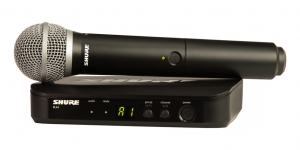 Sistem profesional wireless original Shure BLX24/PG58, microfon si receiver0