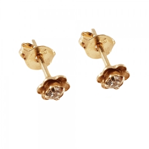 Cercei mici placati cu aur Rock & Shine