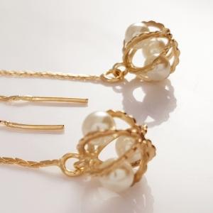 Cercei ear-cross placati cu aur Rock & Shine1