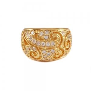 Inel placat cu aur Class by SaraTremo0