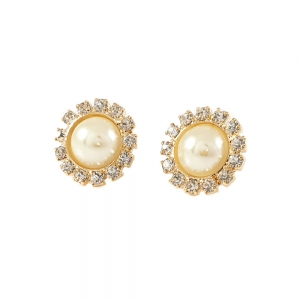 Cercei cu perla placati cu aur Rock & Shine0