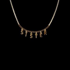 Colier personalizat placat cu aur SaraTremo