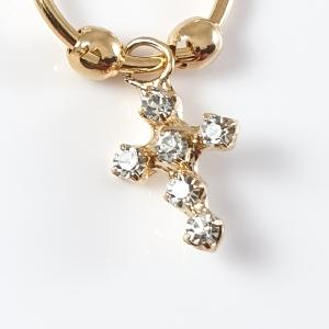 Cercei placati cu aur M-Cross