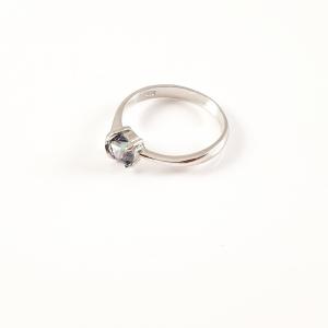 Inel din argint rodiat cu zirconiu Eye