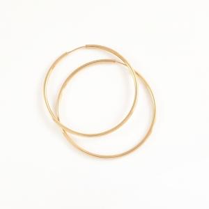 Creole 3.5 cm placate cu aur Mary Jo0