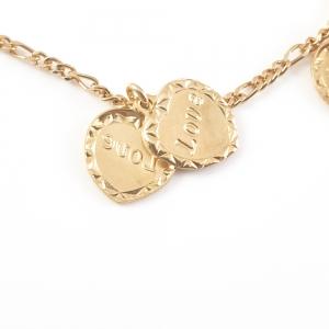 Bratara placata cu aur Love