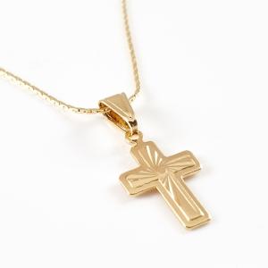 Lantisor si cruciulita placate cu aur Noah