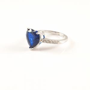 Inel placat cu aur alb BlueSea2