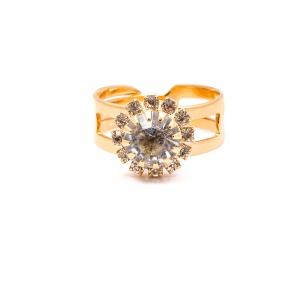 Inel placat cu aur de 18 K Rock & Shine