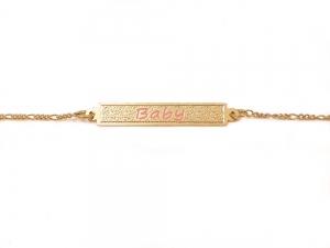 Bratara pentru copii placata cu aur Kid Luxury2