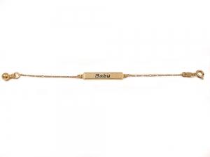 Bratara pentru copii placata cu aur 18 K Kid Luxury