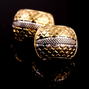 Cercei placati cu aur 18 K My Precious0