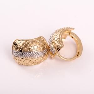 Cercei placati cu aur 18 K My Precious1