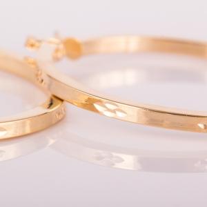 Cercei placati cu aur 18 K My Precious2