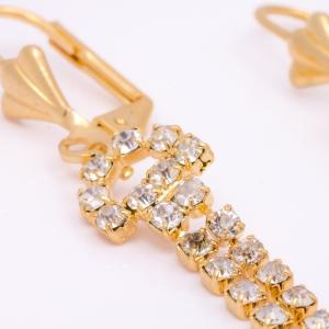 Cercei placati cu aur 18 K Rock & Shine1