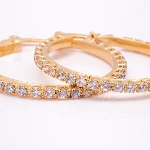 Cercei placati cu aur Eleganz3