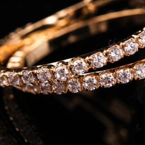 Cercei placati cu aur Eleganz1