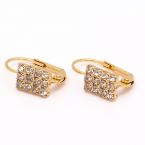Cercei placati cu aur 18 K Rock & Shine