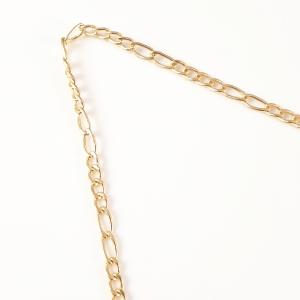 Colier personalizat placat cu aur Litera M5