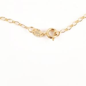Colier placat cu aur Golden Flower3