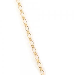 Colier placat cu aur Golden Flower4