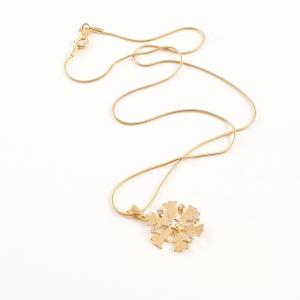 Colier placat cu aur White Snowflake5