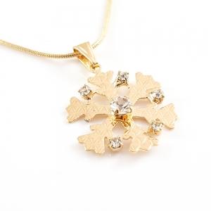 Colier placat cu aur White Snowflake3