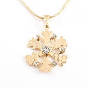 Colier placat cu aur White Snowflake2