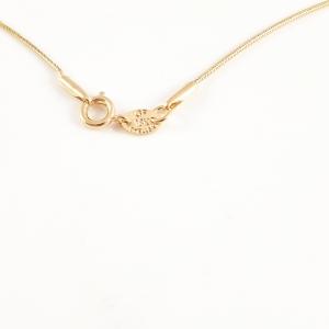 Colier placat cu aur White Snowflake4