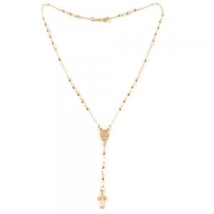 Colier tip rosariu placat cu aur Emergente0