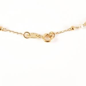 Colier tip rosariu placat cu aur Emergente5